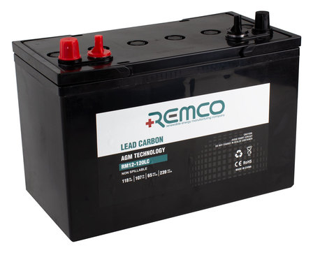 Remco Lead Carbon Battery 120 AH